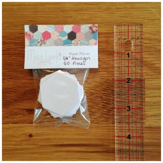 "50 Three Quarter Inch (3/4"") Hexagon Paper Pieces - English Paper Piecing - Patchwork & Quilting"