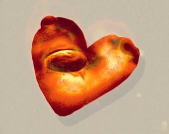 Crater Heart Print