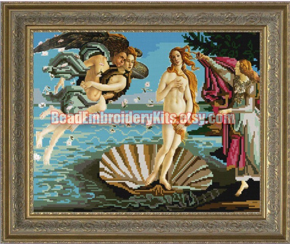 The Birth Of Venus DIY bead embroidery kit beaded painting craft set