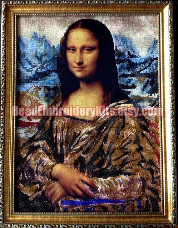 Mona Lisa DIY bead embroidery kit beaded painting craft set