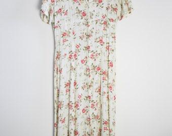Vintage floral dress – maxi