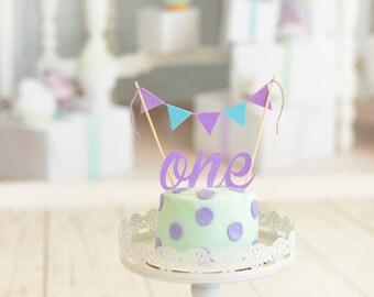 Purple and aqua cake topper, one cake topper, smash cake topper set, smash cake topper, purple cake topper, aqua cake topper
