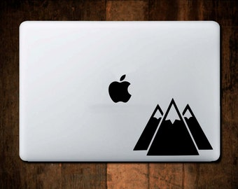 Three Mountains Decal, Macbook Decal, Laptop Decal, Laptop Stickers, Mountain Decal, Mountain Sticker