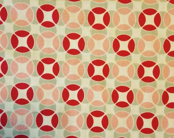 Moda Fabric - VINTAGE MODERN by Bonnie & Camille - Fabric - Overlapping Circles - Quilting - Sewing - Home Decor - Crafting - Retro