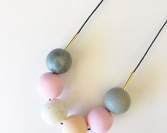 Handmade Polymer Clay Beads Necklace- Taylor