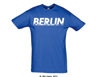 Berlin T-Shirt in Blue / Yellow - from Bär-leena