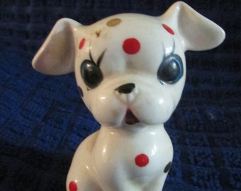 Vintage Made in Japan Dog with Red and Gold spots  BOX 9