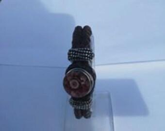 Eco Leather Bracelet (Brown)