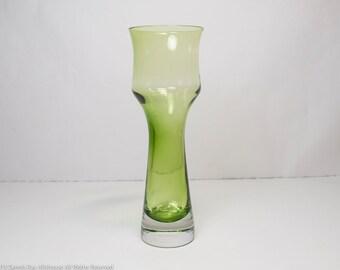 Aseda glass vase made in Sweden Bo Borgstrom design mid century vase in great condition