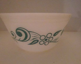 FREE SHIPPING Federal Teal Swirl Mixing Bowl