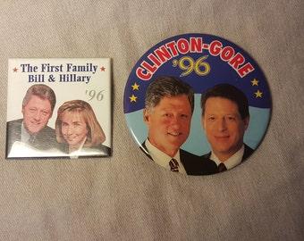 Clinton  buttons