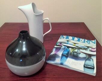 Martz Weed Vase / Marshall Studios / Paper Label & Signature 1960's