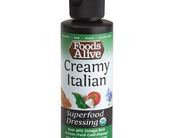 Creamy Italian Organic Flax & Chia Oil Superfood Dressing (4 oz.)