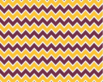 Maroon, yellow gold and white chevron craft  vinyl sheet - HTV or Adhesive Vinyl -  zig zag pattern  HTV187