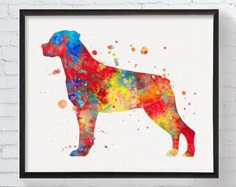 Rottweiler Art - Rottweiler Print - Rottweiler Ornament - Watercolor Rottweiler - Rottweiler Painting - Dog Art, Dog Print, Watercolor Dog