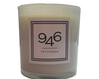 946 Candy Cane Scented Christmas Candle, Soy Wax, Hand Poured, 100% Cotton Lead-Free Wicks, Gifts, Holiday, Hostess Gift, Luxe, Glass Jar