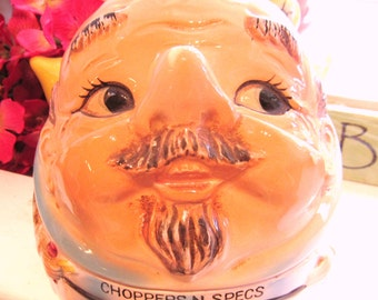 """Vintage """"Choppers and Specs"""" False Teeth and Eyeglass Holder Novelty Item Grandpa Will Love - Excellent Condition"""