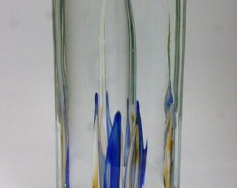 Czech art glass vase Valner