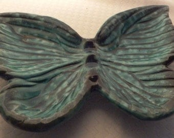 Vintage Midcentury Ceramic Butterfly Ashtray made by Norleans