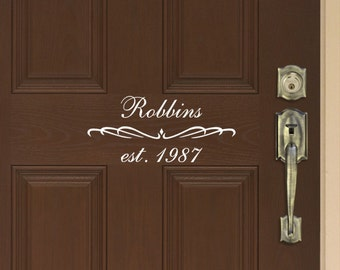 Family Name and Year Established Door Quote