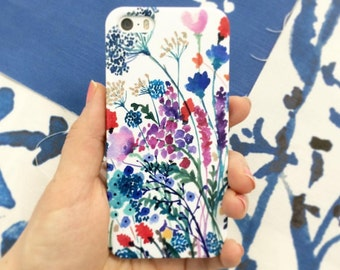 Watercolor Phone Cases Floral iPhone Cases Watercolor Samsung Galaxy Cases Gift for Her Designer Phone Cases iPhone 7 iPhone 6s iPhone Plus