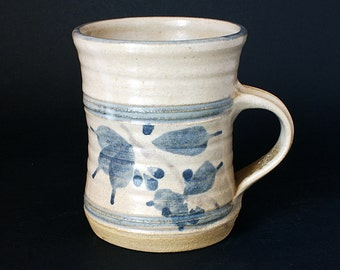 Ros Moren Pottery Tankard - Cornish Pottery - Studio Pottery Cornwall UK - Tamar Valley Pottery - Dating From 1970s - 1980s