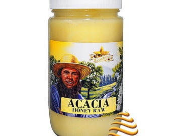 Amish Acacia Raw Unfiltered Kosher  Honey 1Lb