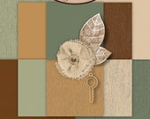 Digital Scrapbook: Vintage, Melancholy Solid Paper Pack