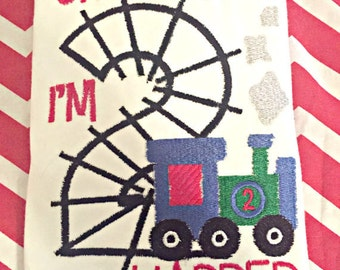 Choo Choo Im 2 Birthday Train Track Shirt