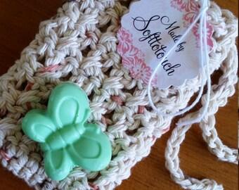Soap Saver Crocheted Bath Shower