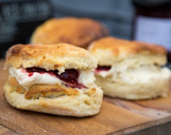 Food Photography - Scones for Afternoon Tea - Kitchen Art - Photography Print