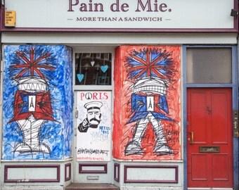 Street Art Print - London Photography - Holborn Shop Front - Nathan Bowen Art - More Than a Sandwich - Union Jack