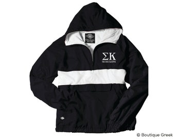 SK Sigma Kappa Classic Letters Anorak Jacket