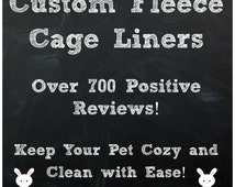 Fleece Cage Liners for Guinea Pig, Rabbit, Hedgehog: Custom Made! Warm and Fuzzy!  Absorbent Layer   Guinea Big Blanket