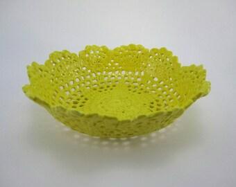 Delicate Ceramic Lace Bowl
