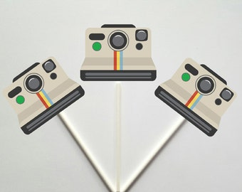 Camera Cupcake Toppers (41217206A)