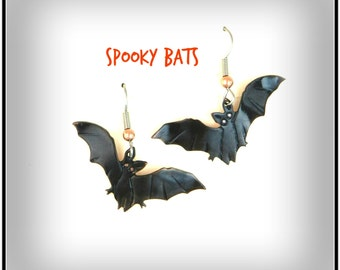 Halloween bat, bat earrings, Halloween jewelry, Halloween costume, Halloween earrings, bat jewelry, Goth, spooky, copper bat