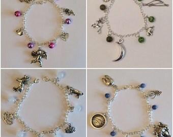 Greek Goddesses Charm Bracelet Pack, Greek mythology, Hera, Athena, Aphrodite, Artemis, Jewelry, Olympians, god, goddess, myth, legends