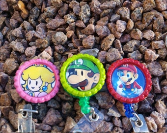 Mario Brothers Badges