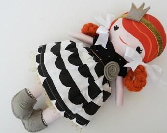 Custom Personalized Cloth Doll, Cloth Doll, Princess Doll - Sophie