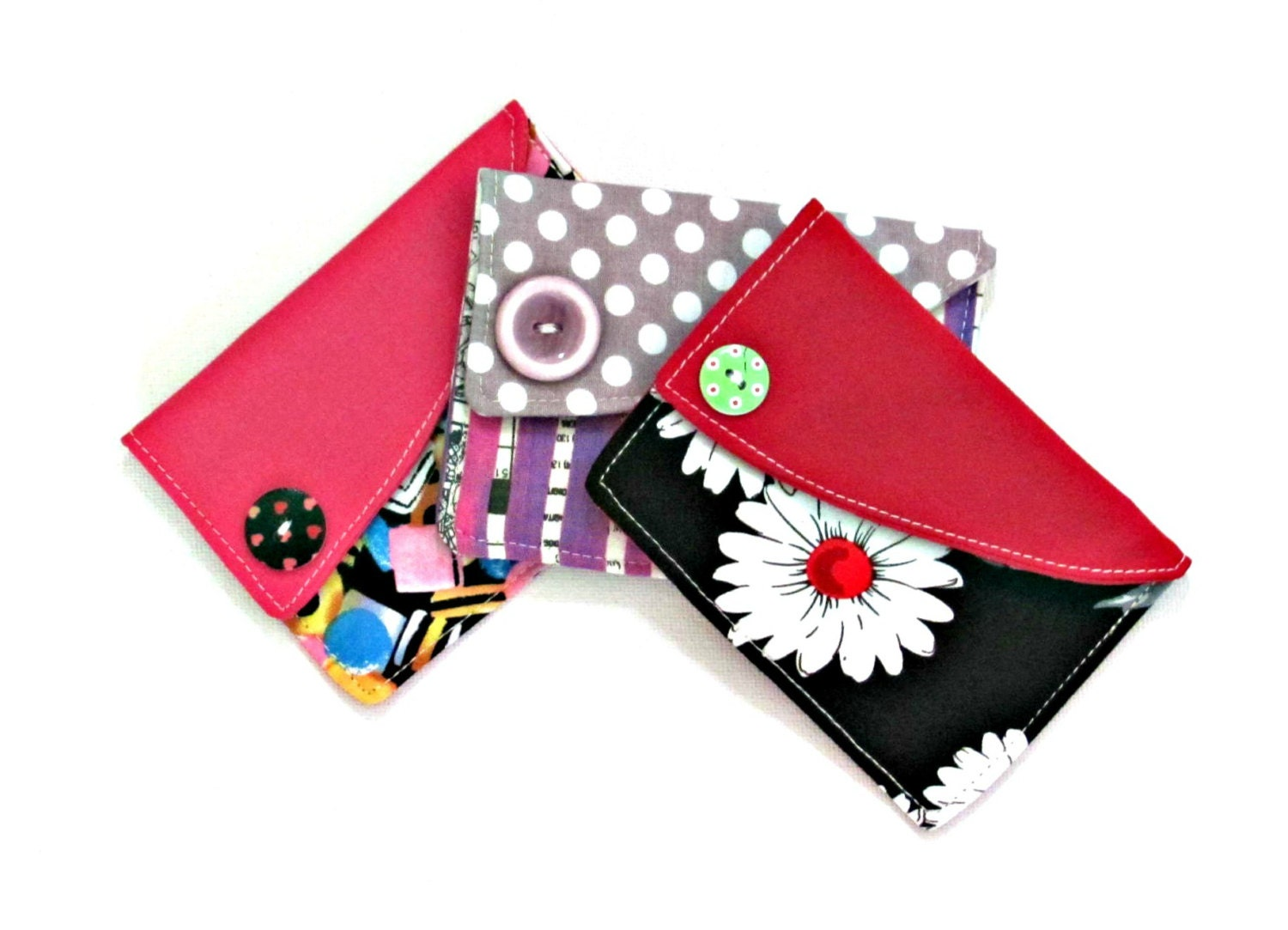 Credit card holder Fabric coin purse Slim womens wallet