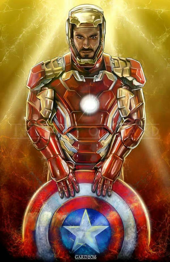 Iron Man Civil War (HQ Art Print)