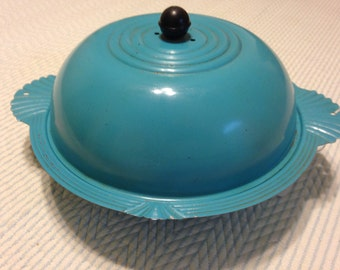 Vintage Mid Century Ornate Covered Bun Warmer Dish