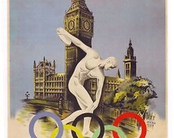 1948 London Olympics A3 Poster Reprint