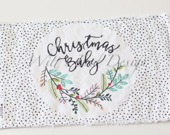 Christmas Baby Burp Cloth- Mix & Match-Gender Neutral-Super Absorbent Cotton Chenille-Holiday Baby gift, Christmas Baby Gift- CHRISTMAS BABY