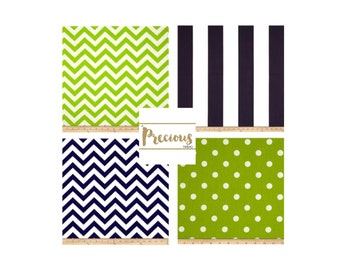 Green & Navy Crib Bedding - Custom 3 piece Crib Bedding - Choose your fabrics