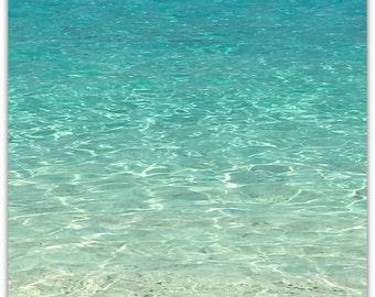 Beach Photography, Ocean Print, Coastal Wall Art, Glass Ripples, Water Photography