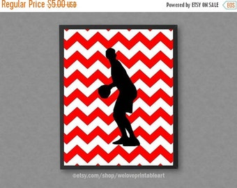 60% OFF SALE Basketball Wall Art, Black and Red Chevron, Sports Art Print, Sports Printable Art, Sports Wall Decor, Basketball Wall Decor, S