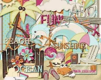 Beach Days Vacation Summer Digital Scrapbook Kit