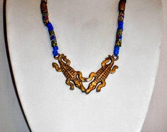 Handmade Crocodile necklace